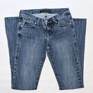 Rock & Republic bootcut flip pocket blue jeans